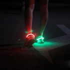 Outdoor Sports Blue LED Light Safety Shoes Clip - Black + Blue