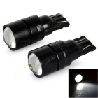 T10 0.2W COB LED Car Signal Lamps Cool White 12000K 35lm - Black (DC 12V / 2 PCS)