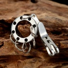 Multifunctinal Clip w/ Manganese Steel Six Rings for Travel - Silver