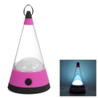 1W 12-LED 80lm 3-Mode Cool White Light Outdoor Camping Lantern / Emergency Lamp - Deep Pink + Black