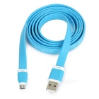 USB 2.0 to Micro USB Flat Data Charging Cable w/ Scale - Blue (117cm)