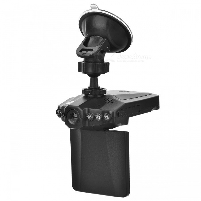 2.5 120 Wide-Angle IR Night Vision Car DVR - BlackCar DVRs<br>Form ColorBlack + MulticolorModelN/AQuantity1 DX.PCM.Model.AttributeModel.UnitMaterialABSChipsetOthers,N/ACamera Lens1Image SensorCMOSImage Sensor Size1/2.5 inchesCamera Pixel0.3MPExternal Camera PixelNoWide Angle120°Optical Zoom4XScreen Resolution1280 x 720Screen TypeTFTScreen Size2.5 inchesISO100Exposure Compensation-2;-1.7;-1.3;-1;-0.7;-0.3;0;+0.3;+0.7;+1;+1.3;+1.7;+2.0Anti-ShakeYesWhite Balance ModeAutoVideo FormatAVIDecode FormatH.264Video OutputNTSCVideo ResolutionVGA(640 x 480)Video Frame Rate25,30ImagesJPEGStill Image Resolution3M 2048x1536Audio SystemMonophonyMicrophoneYesMotion DetectionYesAuto-Power OnYesLED Qty6IR Night VisionYesG-sensorYesLoop RecordOthers,2:5:10:15Delay ShutdownYesTime StampYesBuilt-in Memory / RAMNoMax. Capacity32GBStorage ExpansionSDAV InterfaceOthers,N/AData interfaceMini USBWorking Voltage   12 DX.PCM.Model.AttributeModel.UnitBattery Capacity1050 DX.PCM.Model.AttributeModel.UnitWorking Time8 DX.PCM.Model.AttributeModel.UnitMenu LanguageEnglish,French,German,Italian,Spanish,Portuguese,Russian,Polish,Dutch,Turkish,Japanese,Korean,Thai,Hungarian,Czech,Greek,Chinese Simplified,Chinese TraditionalScreen Size2-2.9Other FeaturesMotion Detection,Anti-Shake,IR Night Vision,Microphone,Loop Record,Delay ShutdownScreen Resolution:1280 x 720 DX.PCM.Model.AttributeModel.UnitCamera Pixel0.3-0.9MP DX.PCM.Model.AttributeModel.UnitWide Angle120°-149°Packing List1 x DVR1 x 1050mAh battery1 x Data cable (48+/-2cm)1 x 12~24V car charger (320+/-2cm)1 x Suction cup holder 1 x Chinese / English user manual1 x Card reader<br>