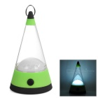 1W 12-LED 80lm 3-Mode Cool White Light Outdoor Camping Lantern / Emergency Lamp - Green + Black