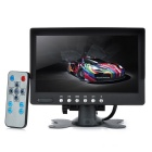 "7"" TFT LED 4-Channel Car Displayer Monitor - Black"