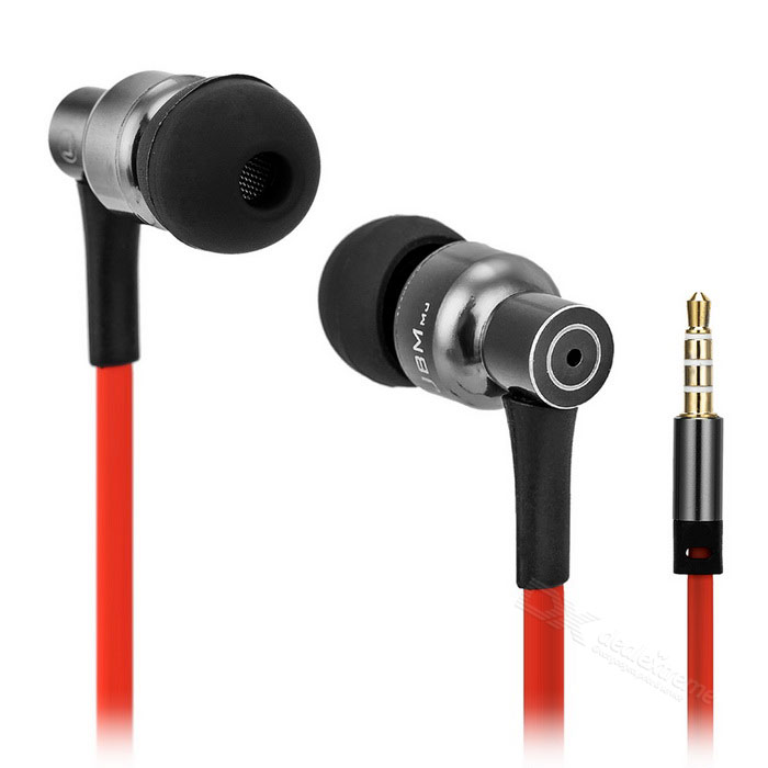 JBMMJ MJ8600 Super Bass In-Ear Earphone w/ Mic, Remote - Silver +Black