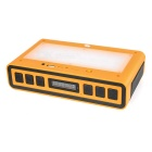 10W Bluetooth V3.0 Speaker w/ TF, FM, White+RGB Light - Yellow + Black