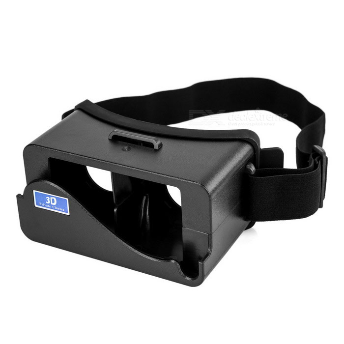 Private Cinema Virtual Reality 3D Glasses for IPHONE 5 / 5S - Black