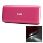 SSK® SRBC536 10000mAh 18650 Li-ion Power Bank  for IPHONE / HTC / Samsung + More - Deep Pink