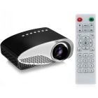 32W LCD HD Home Mini Projector w/ TV, VAG, USB 2.0, AV, SD + Remote Control - Black + White