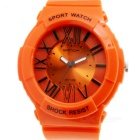 SANDA Students' South Korean Style Quartz Analog Watch - Orange + Black (1 x SR626)