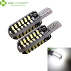 SENCART T10 6W LED Car Clearance Lamp / Reading Light White 6000K 360lm 48-SMD 3014 (12~16V / 2PCS)