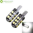 T10 8W LED Car Clearance Lamp / Reading Light White 6000K 750lm 24-SMD 3020 (12~16V / 2PCS)