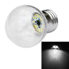 JIAWEN E27 1W LED Ball Bulb Light White Light 120lm 6500K 18-3014 SMD - Transparent (AC 110~240V)