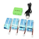 X4-007 1-to-4 Balanced Charger + 4*Li-po Battery Set for Syma X5C / X5