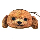 Cute Poodle Style Money Package Storage / Cosmetic Purse Bag - Brown + Light Yellow