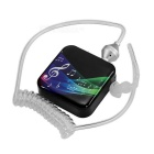 Bluetooth Smart Headset w/ Vacuum Spiral Cable Single Earphone - Black