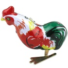 Creative Mechanical Cock Spring Toy - Red + Multi-Color