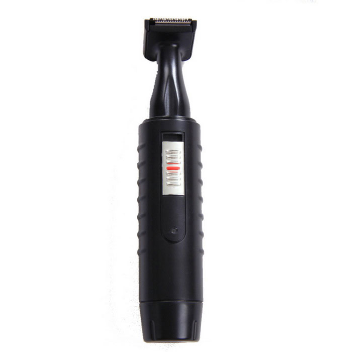2-in-1 Washable Rechargeable Electric Nose Hair Trimmer Shaver - Black