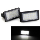 Festoon 39mm 1.8W LED Car License Plate Lamps White 6000K 120lm SMD 3528 for BMW E38 (DC12V / 2 PCS)