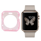 Protective TPU Dial Screen Protector Case for APPLE WATCH 42mm - Translucent Pink