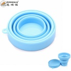 ZHISHUNJIA Outdoor Portable Retractable Silicone Cup Mug - Blue (200mL)