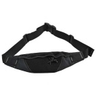 Outdoor Water Resistant 800D Nylon Waist Bag for Cycling - Black