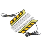 Dimmable 7.5 w branco + carro 4-LED amarelo diurna luz Running % 282PCS % 29