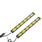 Wired 7.5W Cold White + Yellow LED Car Daytime Running Light (2PCS)
