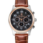 BESTDON BD9918G Men's Waterproof Leather Strap Quartz Watch - Black + Golden + Brown (1 x CR927)