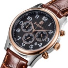 BESTDON BD9918G Men's Leather Strap Quartz Watch - Brown (1*CR927)