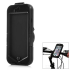 Bike Handlebar Mounted Shock-Absorbing Water-Resistant Full Body Case for IPHONE 6 - Black