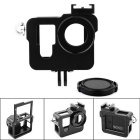 PANNOVO CNC Aluminum Alloy Frame Protective Case w/ Apron for GoPro Hero 4 HD Camera