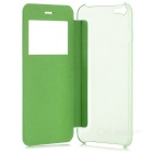 PU + caso w / window do PC para IPHONE 6 PLUS - verde + azul (2PCS)