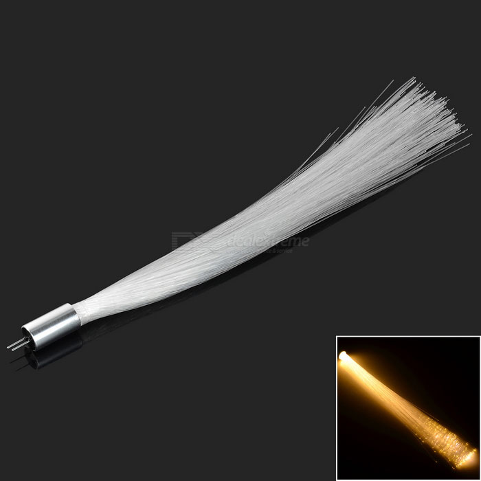 G4 1W COB LED Optical Fiber Light Warm White 60lm - White + Silver