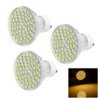 GU10 5W LED Lamps Warm White Light 3200K 200lm 60-SMD 3528 (3PCS)