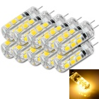 G4 1.3W Car LED Reading Lamps Warm White 3300K 110lm SMD 2835 (DC 12V / 10 PCS)