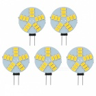 G4 3W Car LED Reading Lamps Warm White 3000K 180lm SMD 5730 (DC 12V / 5 PCS)