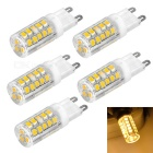 G9 3.5W LED Corn Lamps Warm White 3200K 300lm SMD 2835 - White + Beige (AC 220V / 5 PCS)