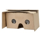 Cardboard 3D Google Glasses for 3.5~6 inch Mobile Phone - Brown