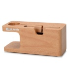 MINI SMILE 2-in-1 Charging Dock Wood Holder for IPHONE 6 Plus / 6 / 5S / 5 / Apple Watch