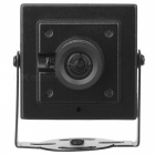 "1/3"" CCD 2.0MP 3.6mm lente 1200TVL HD FPV CCTV câmera - preto (pal)"