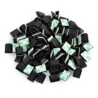 Car Wire Cable Clip Fixed Mount Organizer with Adhesive Tape  - Black + Multicolor (100 PCS)