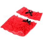 Ultra Sexy Lace Nightwear Suit Costume for Pole Dancing - Black + Red