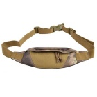800D Outdoor Water-resistant Nylon Waist Bag for Cycling - Dark Grey + Mud Color