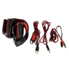 OVLENG 3.5mm Headband Headphone Headset w/ Remote, Mic - Black