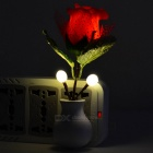 Rose Style Optical Control LED Night Light - Red + Green + Multicolor
