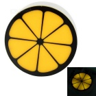 Lemon Slice Style Light Control LED Mini Nightlight Yellow 590nm 18lm