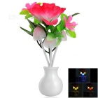 0.2W Rose Style Light Control LED Nightlight Warm White / Multi-Colored 22lm (AC 220V / US Plug)