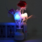 Lilac Style Optical Control LED Night Light - Deep Pink + White