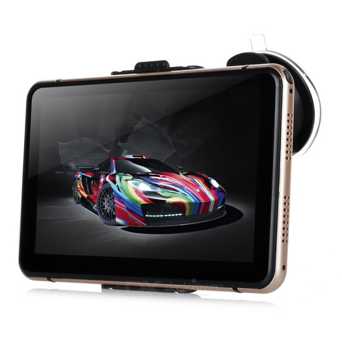 "7.0"" superslank Windows CE 6.0 GPS Navigator med TF - gull (Europa kart)"